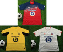 19-20 Lille home red away yellow third white soccer jersey