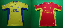 19-20 Las Palmas home yellow  away red soccer jersey