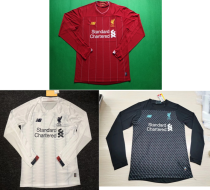 long sleeves 19-20 Liverpool home away third soccer jersey size S-4XL