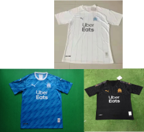 19-20 Marseille home white away blue and black  soccer jersey