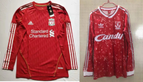 Retro Liverpool soccer jersey 01-02 1989 long sleeves
