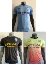 player version 19-20 Manchester City home away third soccer jersey