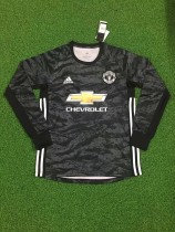 19-20 Manchester United goalkeeper black long sleeves soccer jersey