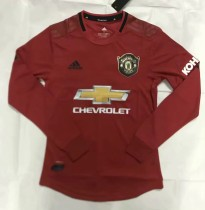 player version 19-20 Manchester United home long sleeves soccer jersey