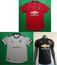 player version 19-20 Manchester United home away third soccer jersey