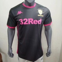 player version 19-20 Leeds United away black soccer jersey