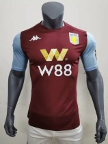 player version 19-20 Aston Villa home soccer jersey