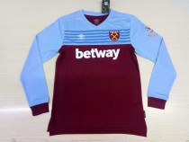19-20 West Ham United home long sleeves soccer jersey