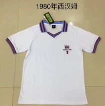 Retro 1980 West Ham white soccer jersey