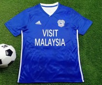 19-20 Cardiff City home soccer jersey