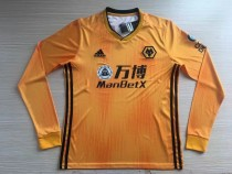 19-20 Wolverhampton Wanderers home long sleeves  soccer jersey
