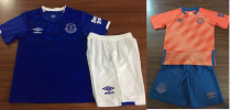 kids kit 19-20 Everton home away soccer jersey