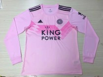 19-20 Leicester City home long sleeves soccer jersey