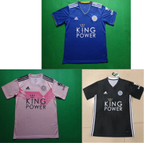 19-20 Leicester City home pink dark grey soccer jersey