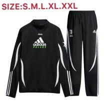 B367#  19-20 Juventus x adidas x Palace black with big logo sweater set size S-2XL