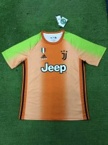 19-20 Juventus x adidas x Palace fourth goalkeeper orange soccer jersey