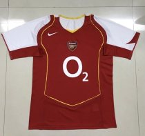 Retro 04-05 Arsenal home soccer jersey size S-2XL