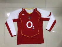 Retro 04-05 Arsenal home long sleeves soccer jersey size S-2XL