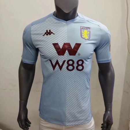 player version add+$5 19-20 Aston Villa away light blue soccer jersey size S-2XL