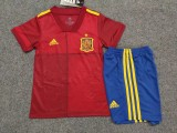 kids kit 2020 Spain  home soccer jersey