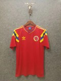Retro 1990 Colombia away soccer jersey