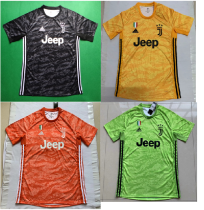 19-20 Juventus goalkeeper black  yellow orange green soccer jersey size S-4XL