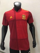 player version add+$5 2020 Spain home soccer jersey size S-XXL