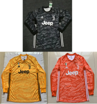 long sleeves 19-20 Juventus goalkeeper long sleeves black  yellow orange soccer jersey size S-4XL