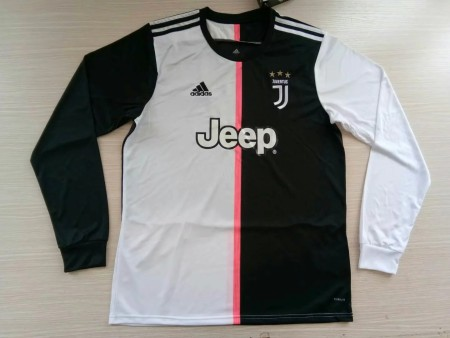 size S-4XL 19-20 Juventus home longsleeves soccer jersey