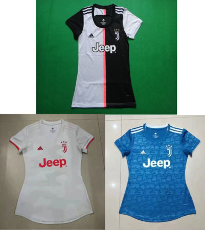 women 19-20 Juventus home away third soccer jersey