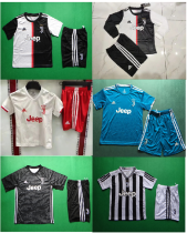 kids kit  19-20 Juventus home away third goalkeeper black Saintetixx soccer jersey