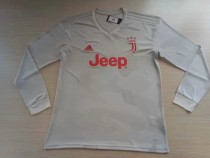 19-20 Juventus away light grey longsleeves soccer jersey