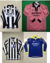 Retro Juventus long sleeves soccer jersey 97-98 1999-2000 98