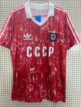 Retro 1990 USSR home soccer jersey size S-2XL