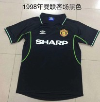Retor 1998 Manchester United away black soccer jersey size S-2XL