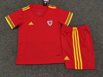 kids kit 2020 Wales home soccer jersey