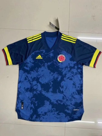 player version add+$5 2020 Colombia away soccer jersey size S-2XL