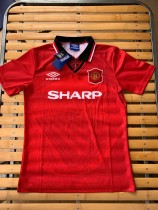 Retro 94-96 Manchester United red soccer jersey S-XXL
