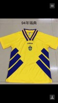 Retro 1994 Sweden yellow soccer jersey