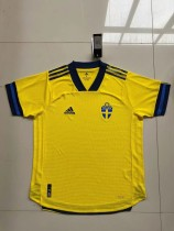 player version add+$5 2020 Sweden home soccer jersey