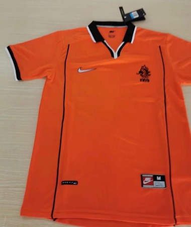 Retro 98 Netherlands home soccer jersey