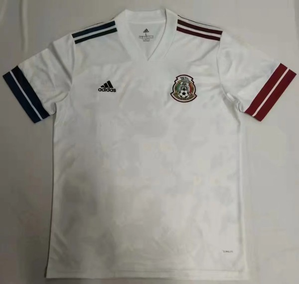 2020 Mexico away white soccer jersey size S-2XL