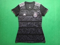 woman 2019-20 Mexico black soccer jersey