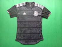 player version add+$5 19-20 Mexico black soccer jersey