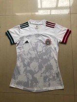 women 2020 Mexico away white soccer jersey