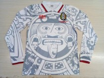 add+$5 Retro 1998 Mexico away longsleeves soccer jersey