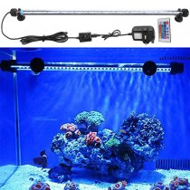Aquarium Fish Tank 5050 SMD  RGB LED Light Bar Lamp Submersible waterproof +Remote Controller