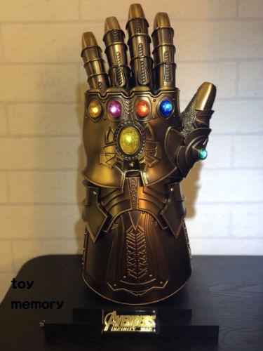 1:1 Full Metal Wearable Thanos Infinity Gauntlet Cosplay Infinity Stones Gloves