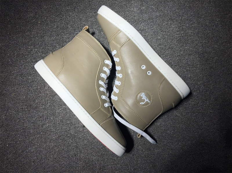 huge selection of 94f84 bb419 red bottom boots for men Christian Louboutin Leather High Top Sneakers