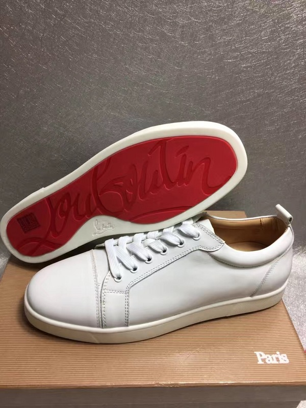 innovative design b606e 73674 Christian Louboutin White Low Top Junior Shoes